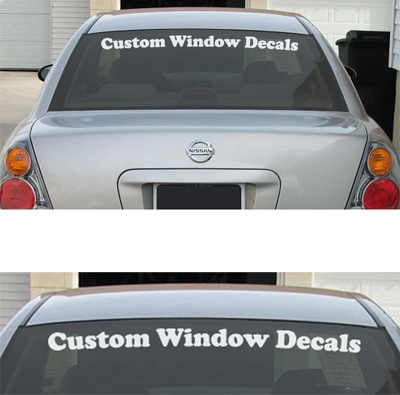 Custom Window or Windscreen Decal / Stickers - Click Image to Close