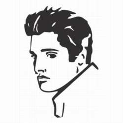Elvis car sticker