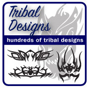 'Tribal Designs / Car Stickers' from the web at 'http://stickers.signprint.co.uk/images/tribaldesigns.jpg'